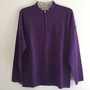 Peter Millar Purple Cashmere Sweater NWOT - L